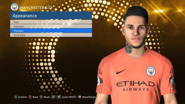 Ederson Moraes Face PES 2017