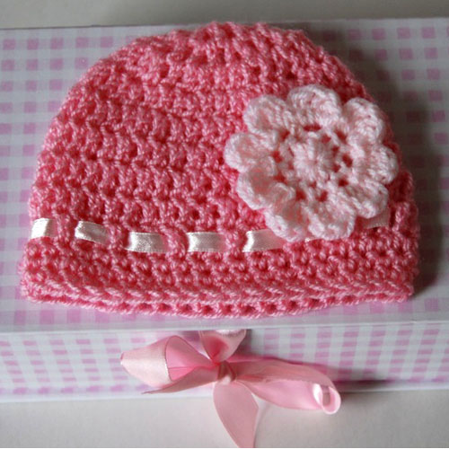 Crochet Baby Hat with Flower - Free Easy Pattern