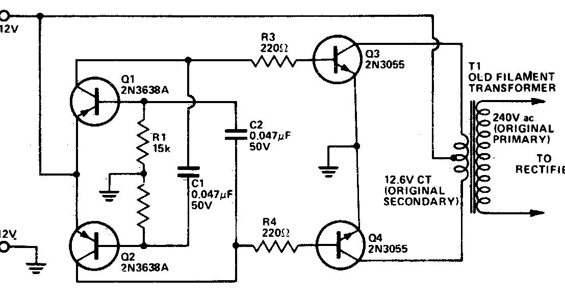 dc to ac conversion circuit diagram wiring diagram