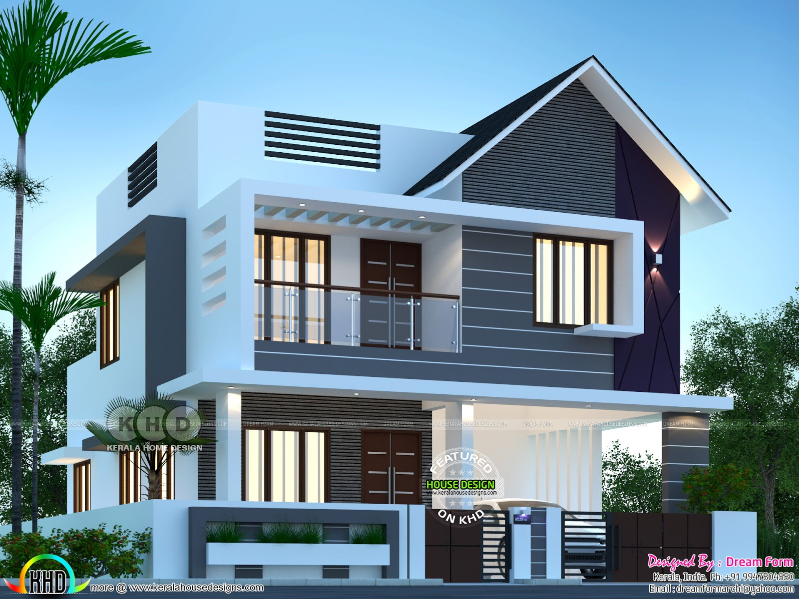 3 Bedroom Mixed Roof House 1810 Sq Ft Kerala Home Design Bloglovin