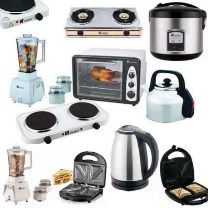 Saisho Kitchen Appliances and Cooking Items: Electric Kettle, Cooker, Oven, Blender, Toaster, etc..