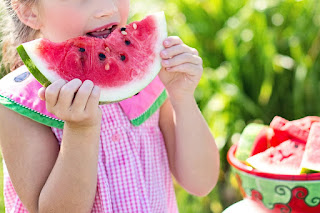 Image: Little Girl Eating Watermelon, by Jill Wellington  on Pixabay
