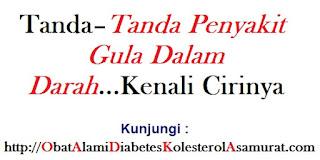 Tanda–tanda Penyakit Gula dalam Darah...Kenali Cirinya