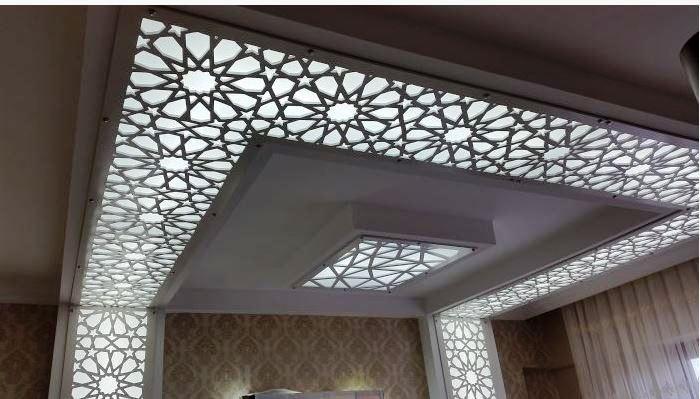 Luxury 42 Cnc False Ceiling Design With Led 2018 Caredecor