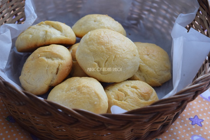 Homemade Soft Buns Recipe- Magic of Indian Rasoi - Priya R