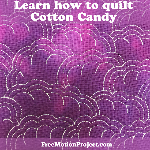 Learn how to machine quilt Cotton Candy