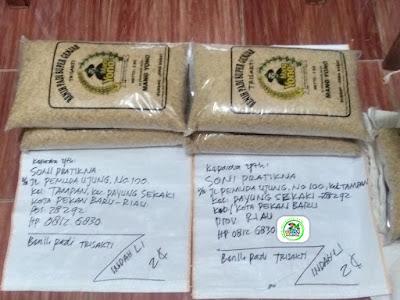Benih pesanan SONI PRAKTIKNA Pekan Baru, Riau.   (Sebelum Packing)