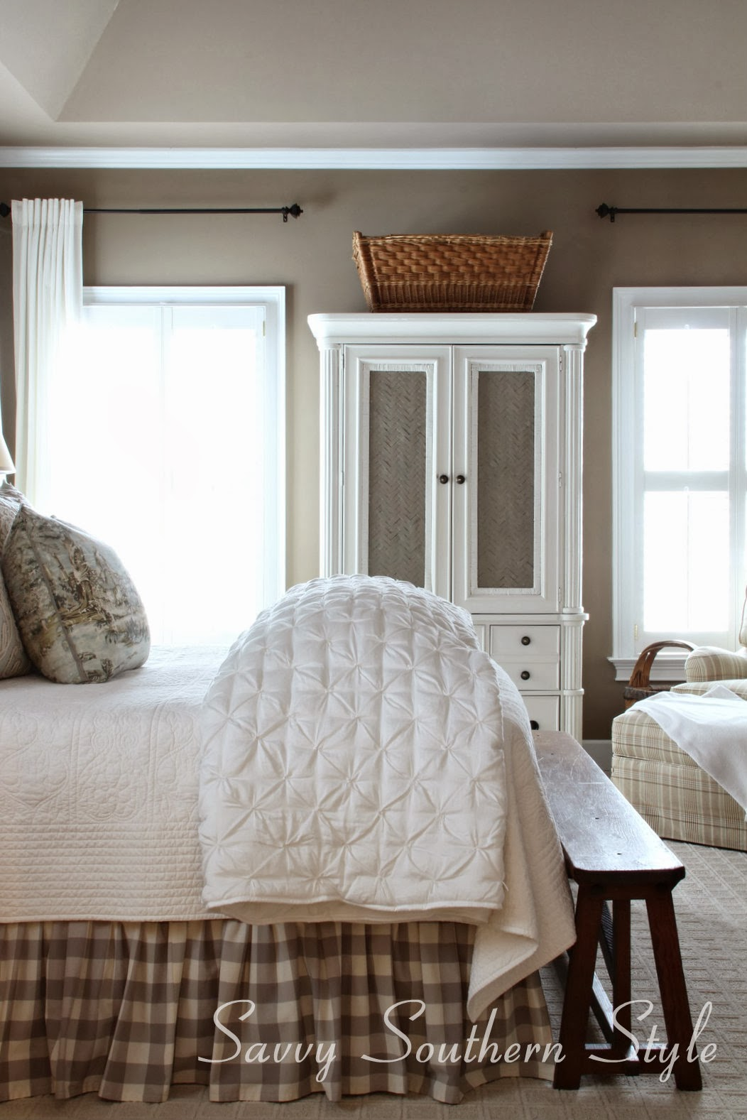 Southern Farmhouse Bedroom Ideas: Savvy Southern Style : Answering Questions About My Bed