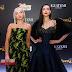 Dove Cameron de Oscar De La Renta e Sofia Carson de  J. Mendel na premiere de São Paulo de 'Descendants 2' - 16/08/2017