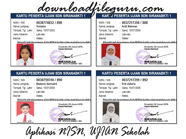 Download Master Aplikasi Cetak Kartu Siswa Format Excel.Xls