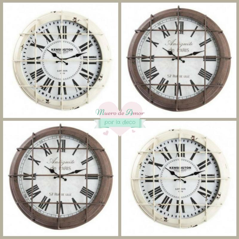 Muero de amor por la deco blog de decoraci n ideas y for Reloj pared estilo industrial