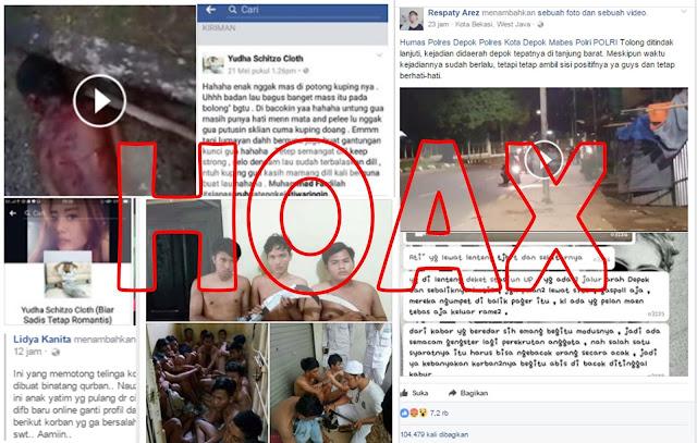 Vidio Gangster di Facebook yang banyak di share adalah Vidio HOAX
