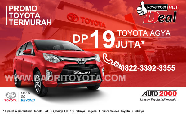 Paket Keren Calya DP 19 Juta, Promo Toyota Surabaya