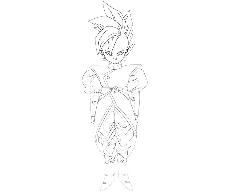 Supreme Kai Cute How Coloring