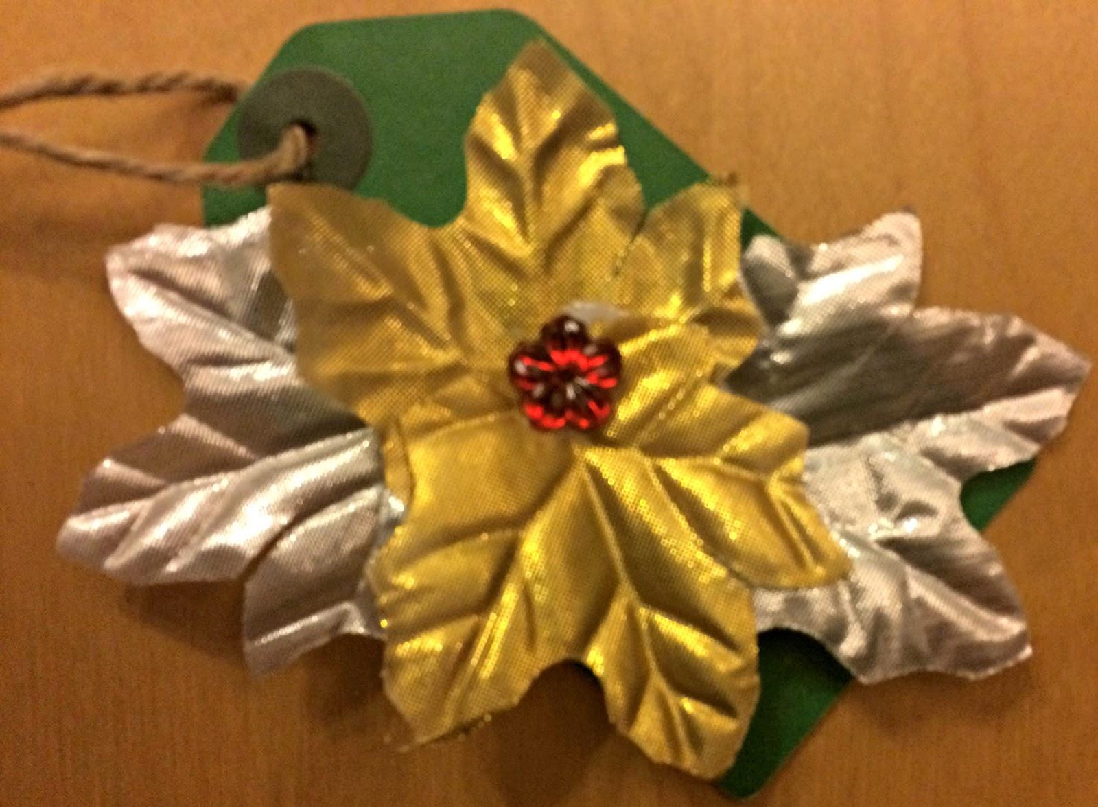 Homemade Christmas gift tag