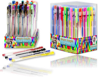 OFFER Gel Pens 36 Gel Pen Set – Pack – Bright Knight Quality Gel Ink Pens only £10.09