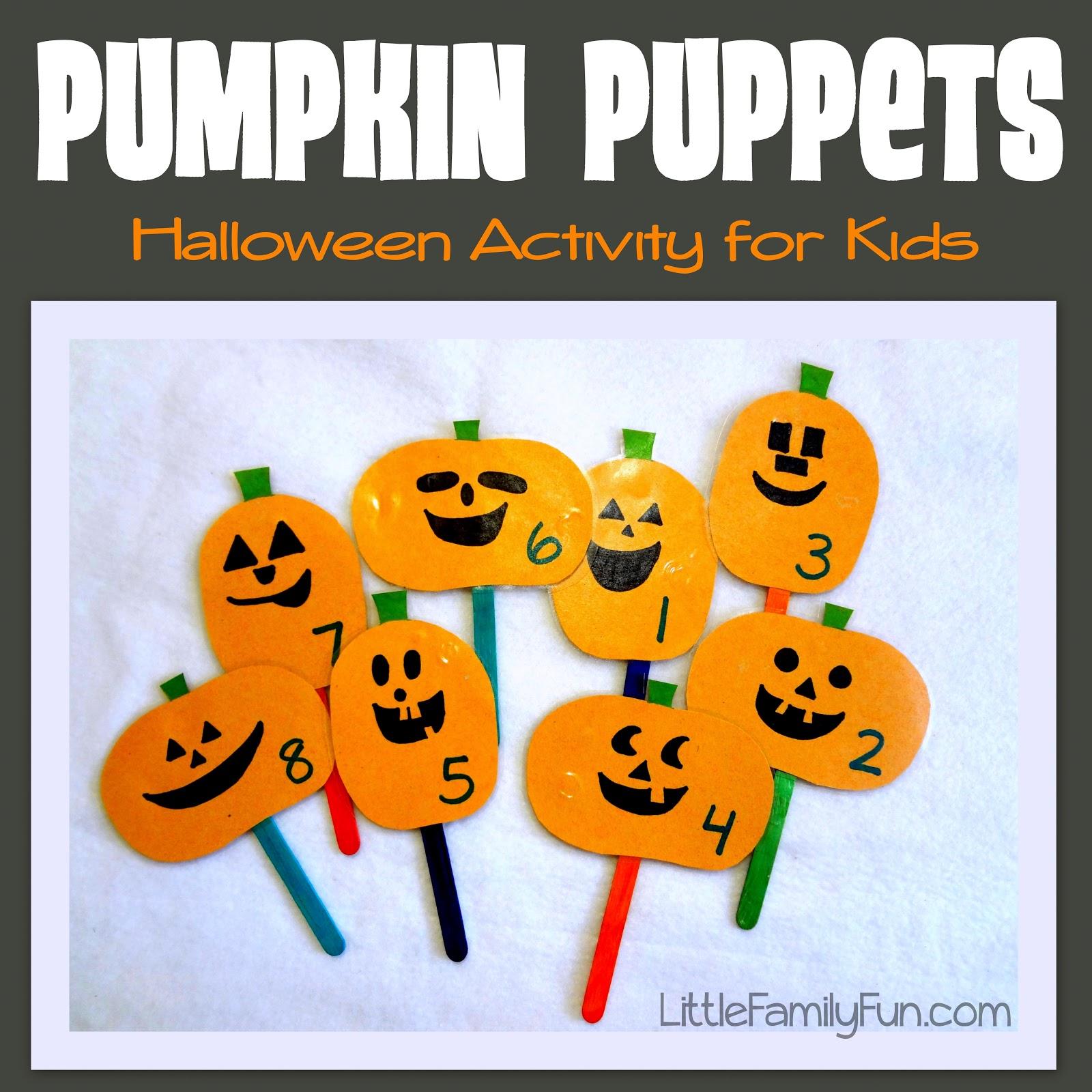 Little Family Fun Pumpkin Puppets