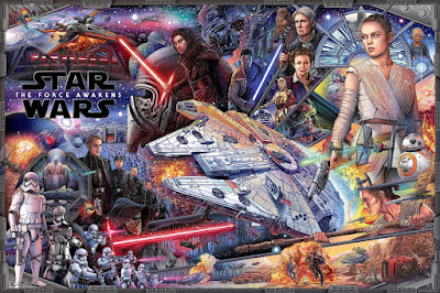 New York Comic Con 2016 Exclusive Star Wars: The Force Awakens Regular Edition Screen Print by Ise Ananphada x Bottleneck Gallery