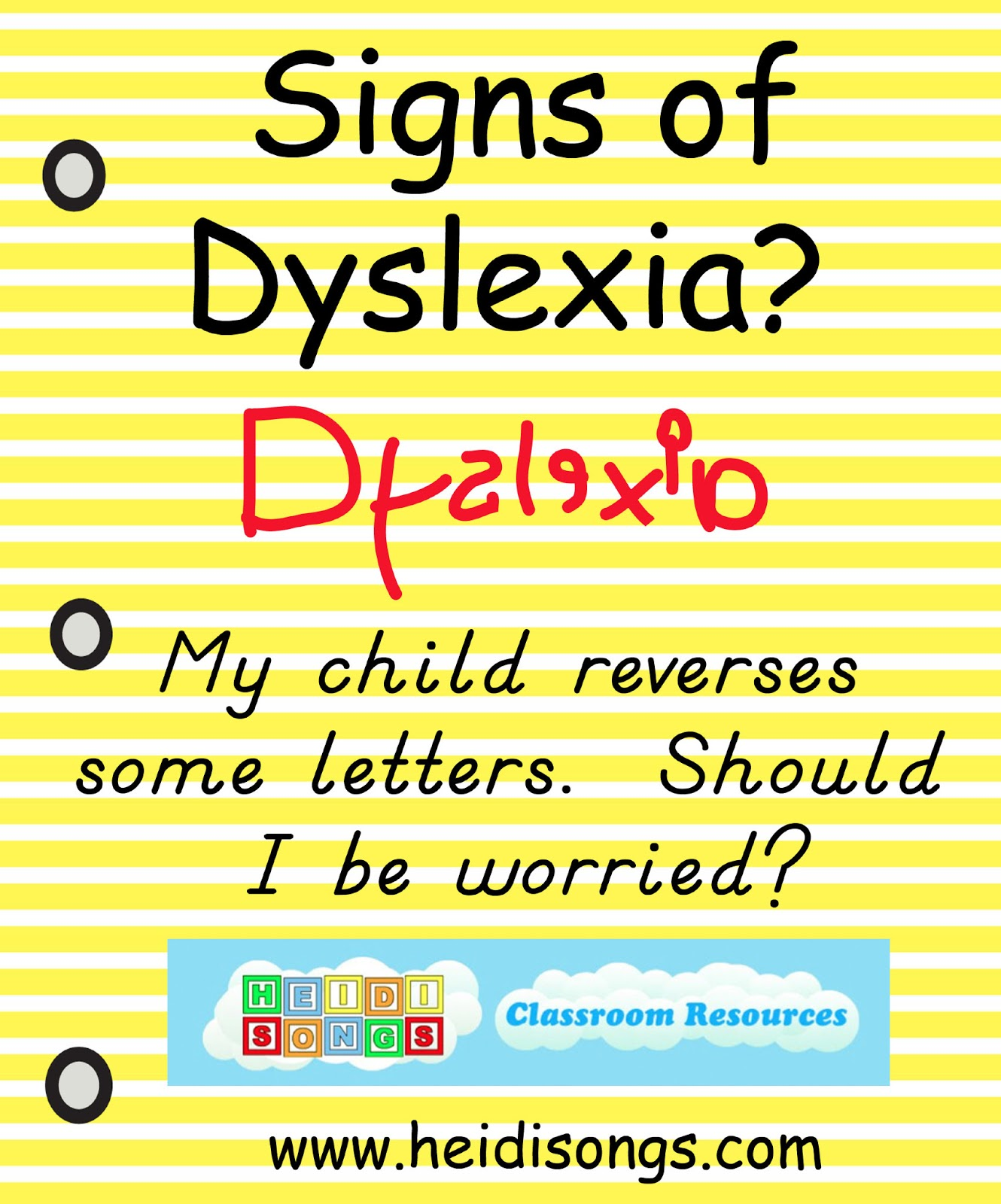Dyslexia Worksheets For Kindergarten