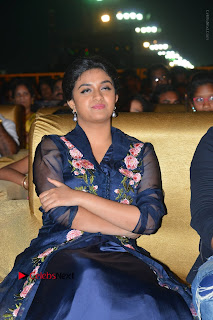 Actress Keerthi Suresh Stills in Blue Long Dress at Nenu Local Audio Launch  0008.JPG