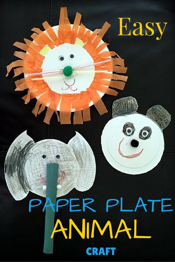 Easy Paper Plate Animal Craft & Rambling Through Parenthood : Easy Paper Plate Animal Craft