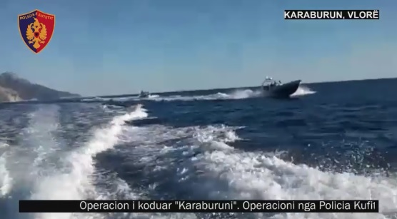 Speed Boat with over a ton of cannabis caught by police in Karaburun