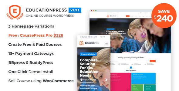 EducationPress WordPress Theme Free Download