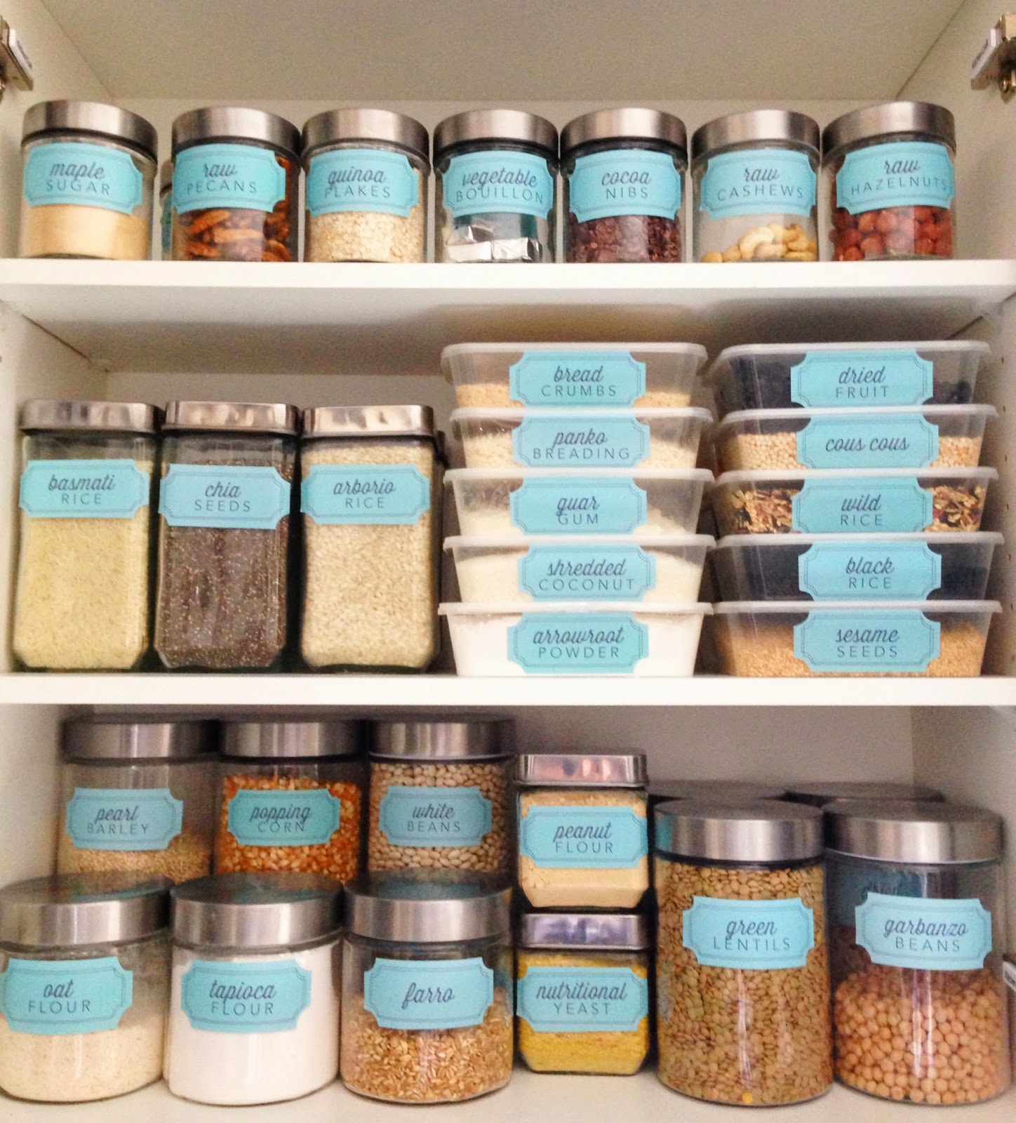 Pantry Organization Labels: New Pantry Label Collections