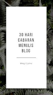 Blog Cipina - cabaran menulis blog