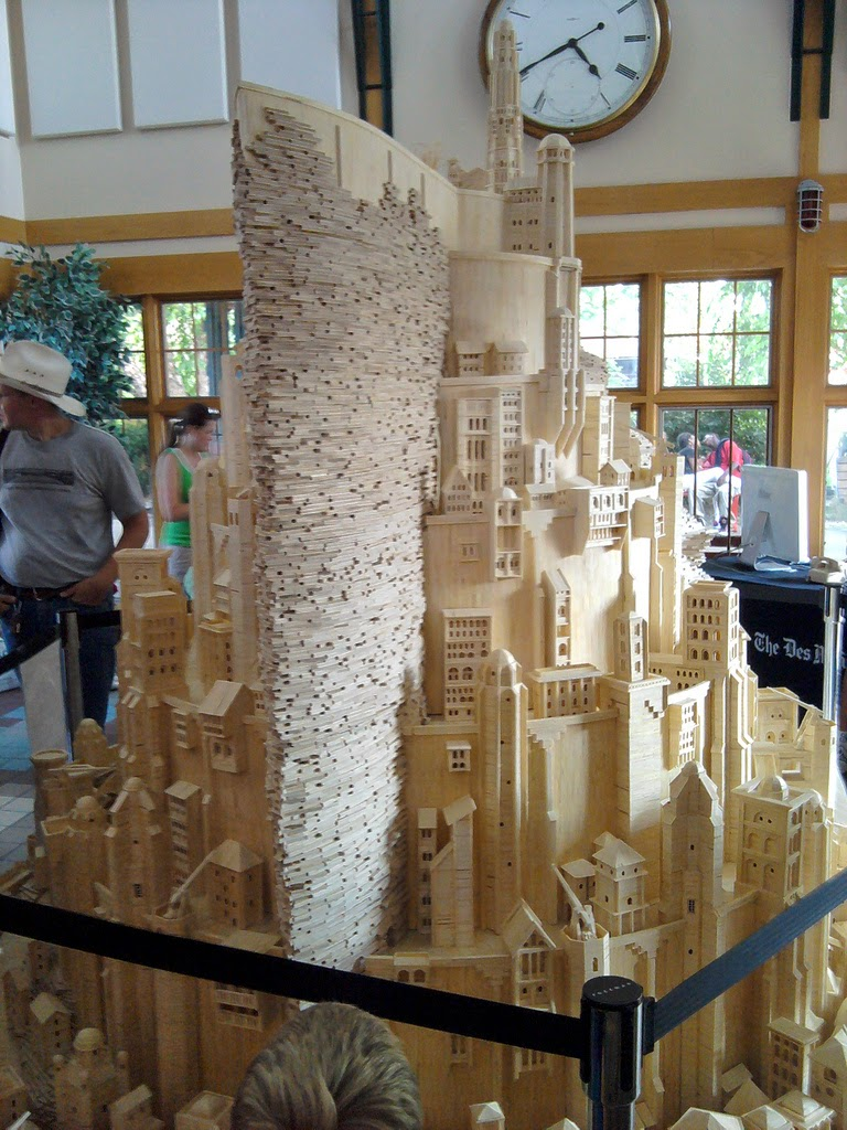 02-Minas-Tirith-Patrick-Acton-The-Matchmaker-Matchsticks Sculptures-www-designstack-co