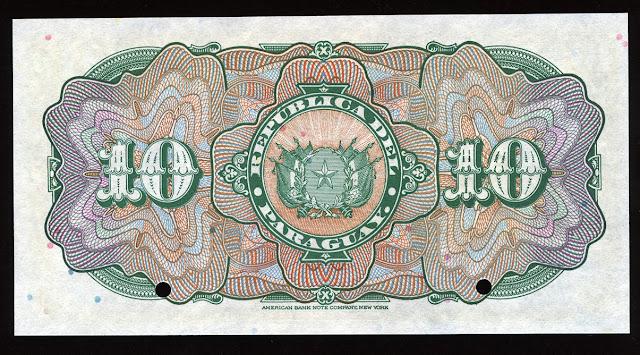 Billetes del Paraguay 10 Pesos
