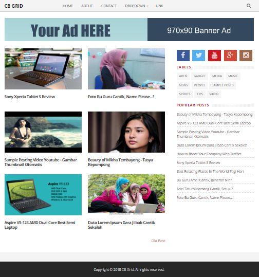 CB Grid - Template Blog Responsve SEO Friendly untuk Semua Niche