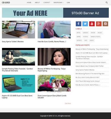 CB Grid - Tema Blogger untuk Blog Foto & Toko Online