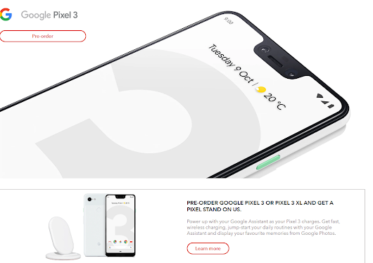 Pre-order the Pixel 3 (or XL) now and get the stand for free ~ Android Coliseum