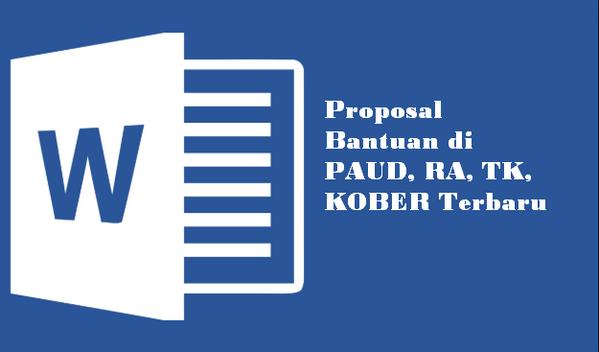 Proposal Bantuan di PAUD, RA, TK, KOBER Terbaru