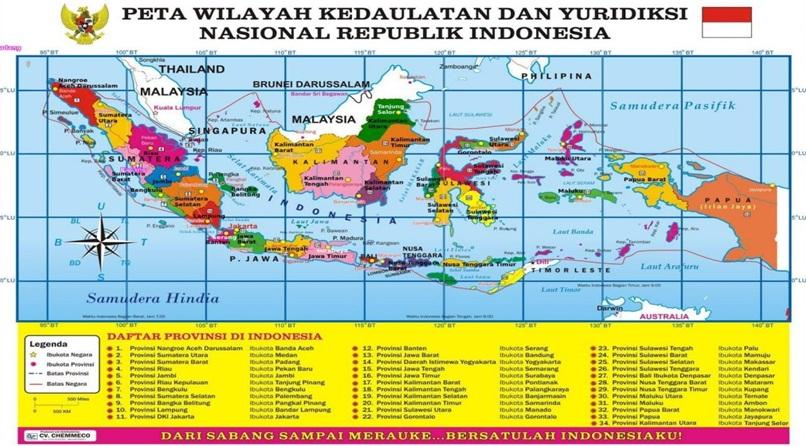 Batas Batas Wilayah Negara Indonesia Utara Selatan Timur Barat Asep Respati