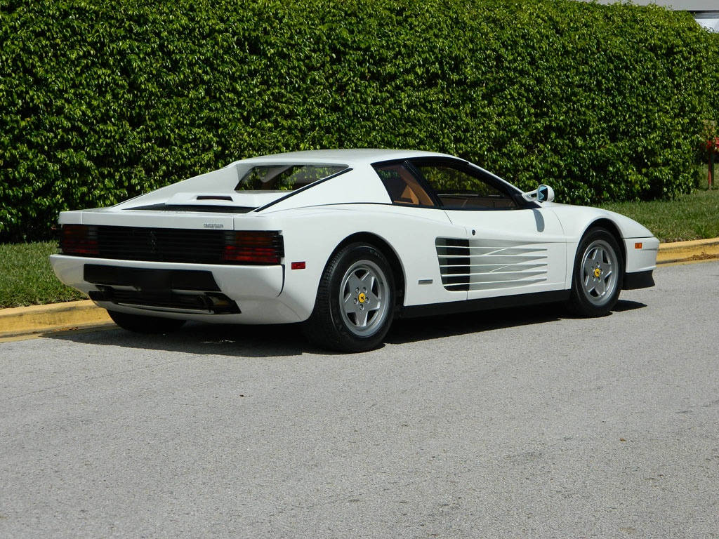 real wolf  wall streets white ferrari testarossa  sale carscoops