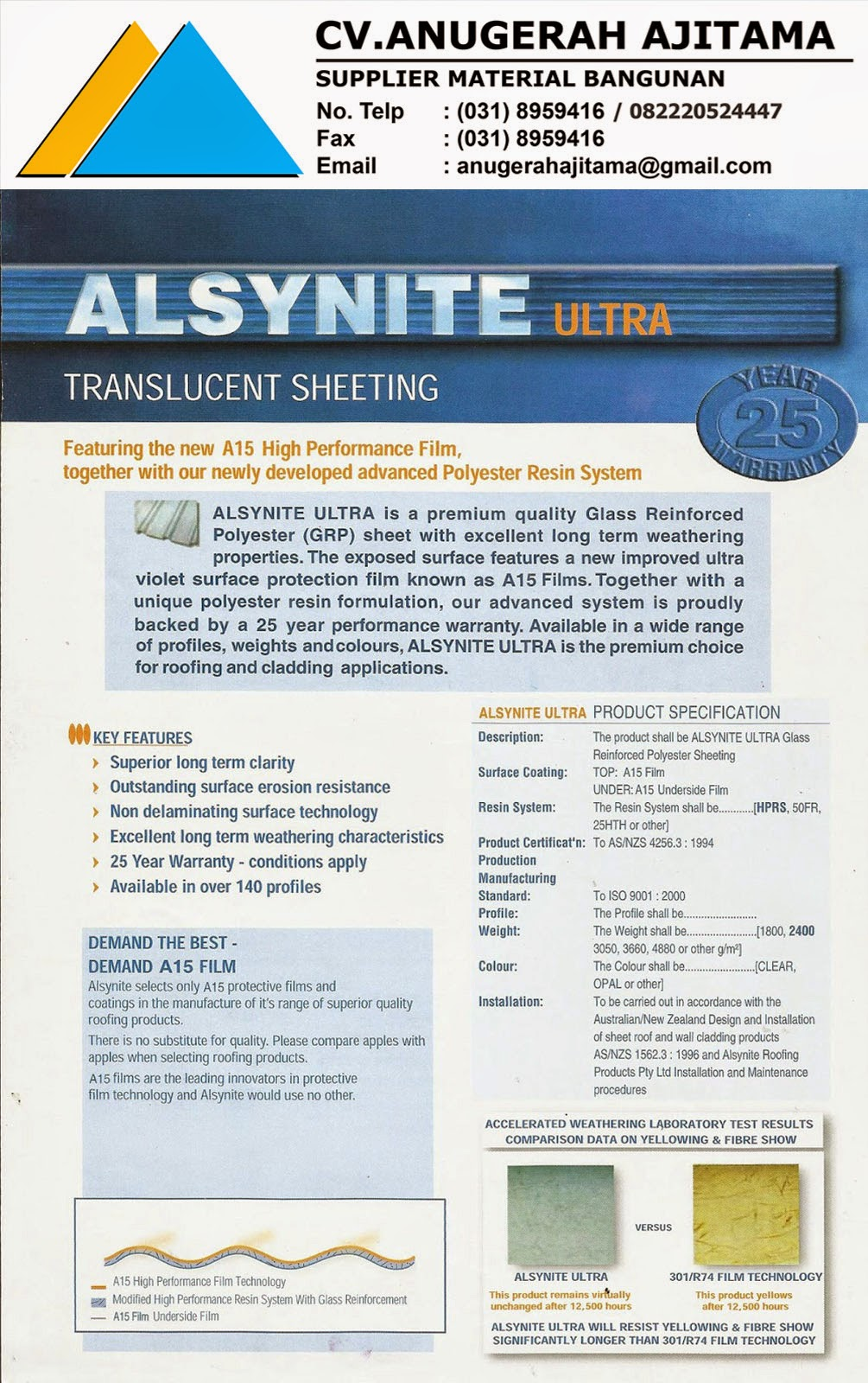 ATAP ALSYNITE ULTRA TRANSLUCENT ROOF