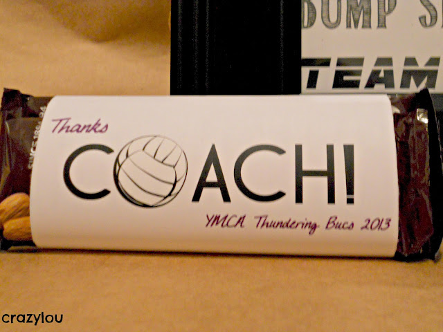 Volleyball Coach Candy Wrapper