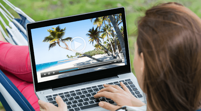 Pemutar video laptop