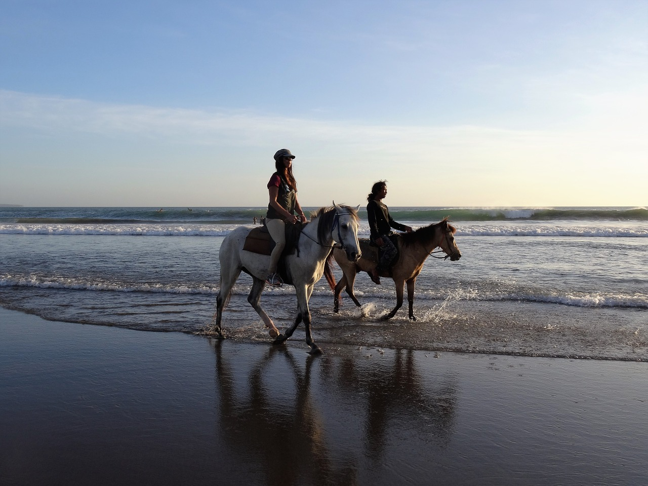 Horse riding on beach in Bali