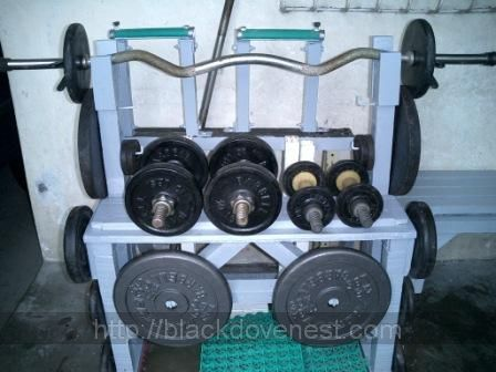 Blackdove Nest Build A Weights And Dumbbell Rack From Wood