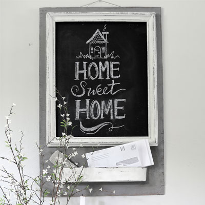 Farmhouse Chalkboard Message Center