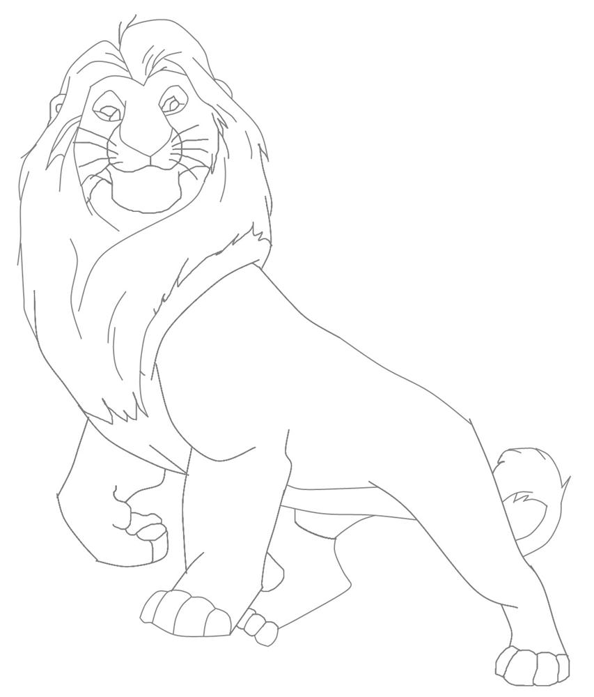 Mufasa The Great The Lion King Coloring Page Auto Electrical