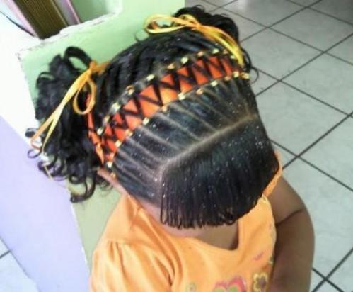 Peinados Con Cintas Excellent Peinado Infantil Con Encintado