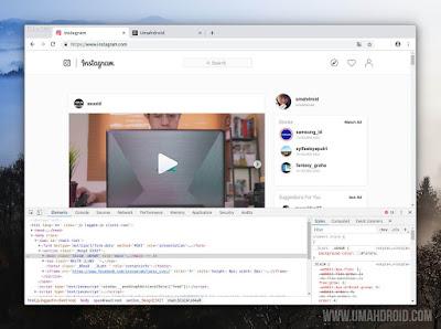Upload IG Menggunakan Google Chrome