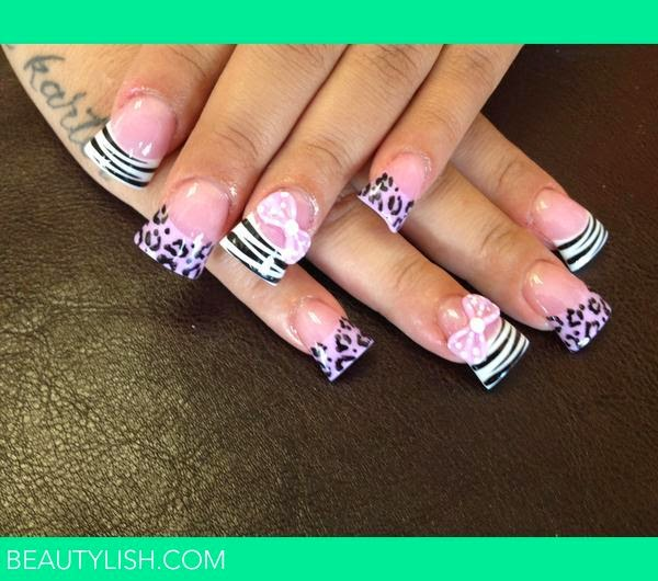 Giraffe Print Nails Pictures to Pin on Pinterest - TattoosKid