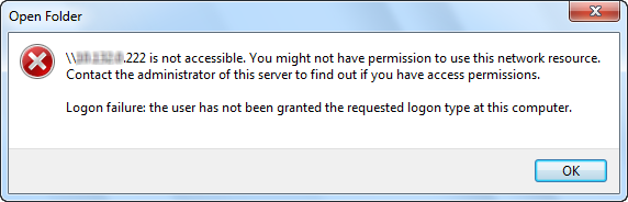 Server 2012 - Logon failure: the user has not been granted
