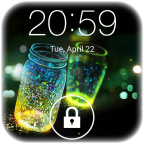 Fireflies lock screen logo app apk