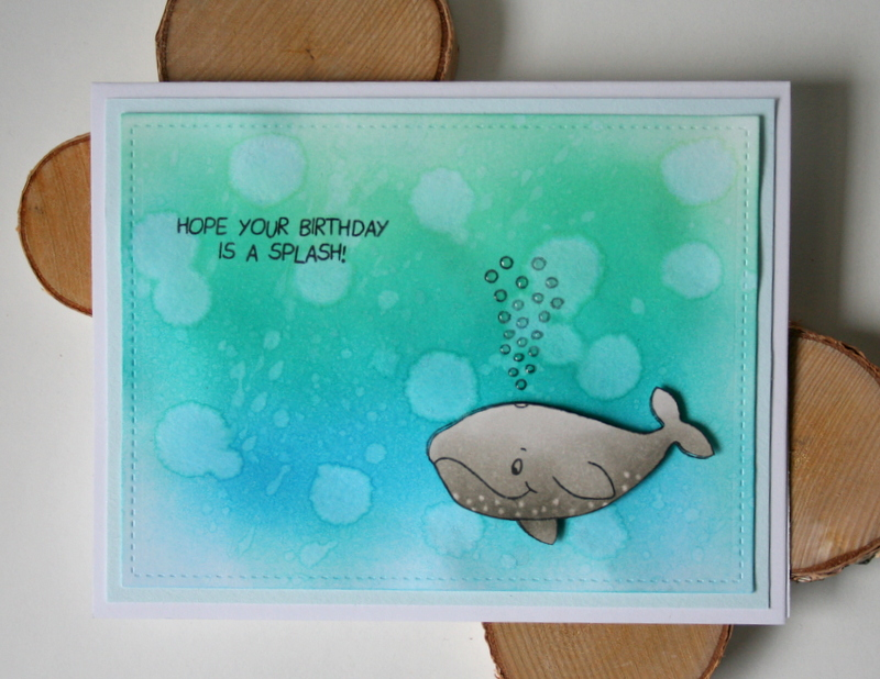 Create a Distress Ink Ocean Background with Gerda Steiner Designs Heavy Friends Clear Stamps